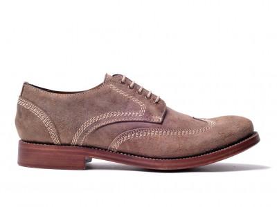 scarpe artigianali scamosciate